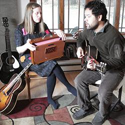 Elizabeth Mitchell and Daniel Littleton